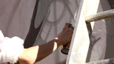 Paint with silver color — Stock Video