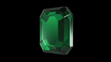 Emerald diamond cut rotation — Stock Video