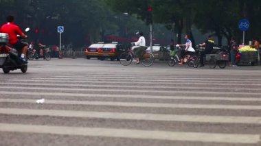 Ansicht der Fahrbahn in Peking — Stockvideo