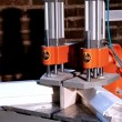 Stock Video: Machine for Weld plastic corner