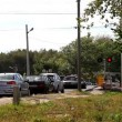 Railroad crossing with cars — Stock Video #13490320