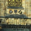 Pan on wall - architecture details of cathedral of historical  Prague City - Foto de Stock