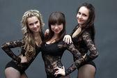 Portrait of sensual beautiful dancers, close-up — Stock Photo