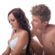 Upset young couple having sexual problems — Stock Photo #28920091