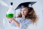 Portrait of girl's passionate about science — Stock Photo