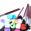 Set of cosmetic products for professional makeup — Stockfoto