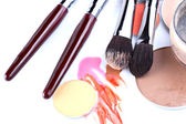 Items for professional make-up application — Stock Photo