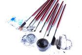 Set of professional brushes for eye makeup — Stockfoto