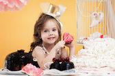 Portrait of beautiful little sweet tooth — Stockfoto