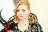 Portrait of young red-haired royal personage — Stock Photo