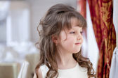 Image of beautiful dark-haired little fashionista — Stock Photo