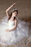 Image of lovely ballerina posing at camera — Stock Photo