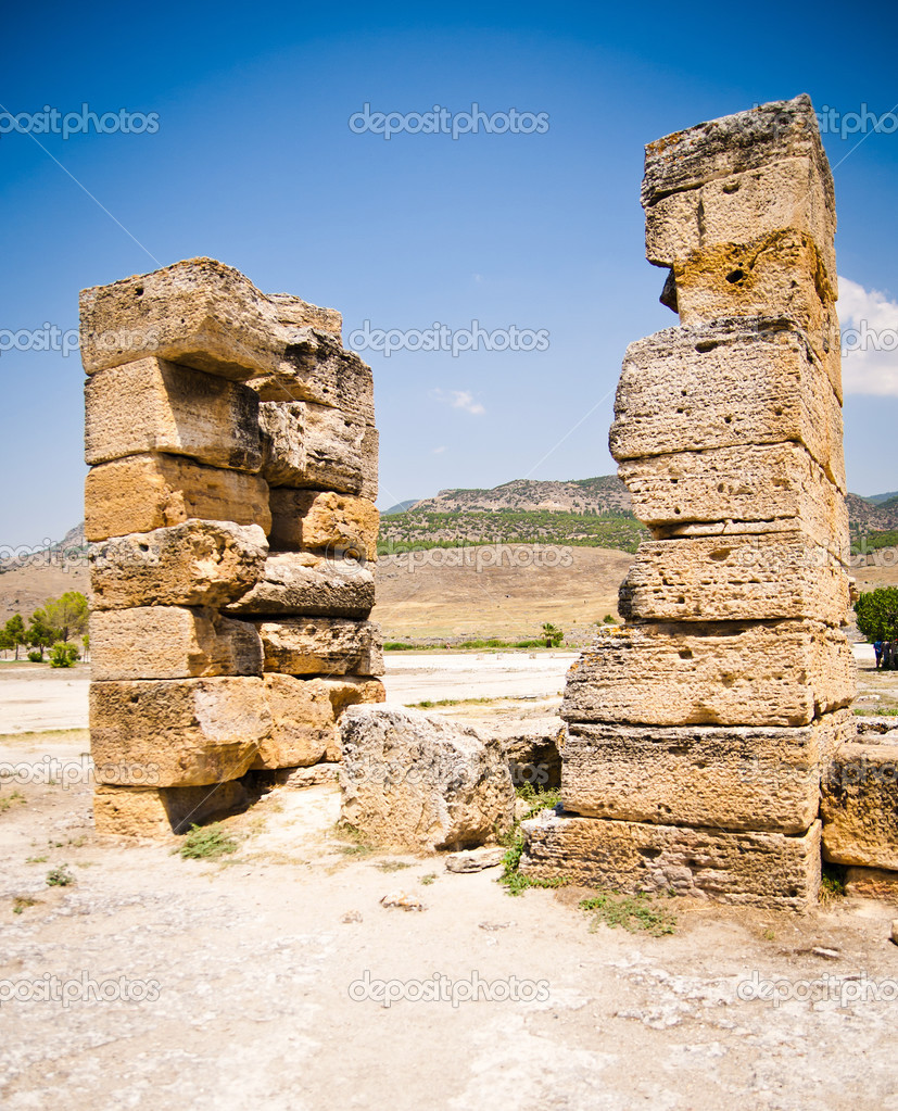 Ancient ruins in Ephesus Turkey - archeology background — Stock Photo #12567853