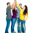 Group of young holding hands — Stock Photo #12584413
