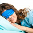Royalty-Free Stock Photo: Sleeping Young Woman In Sleep Eye Mask