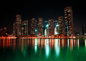 Dubai à noite — Foto Stock