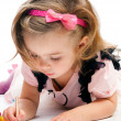 Little girl painting — Stock Photo #14459333