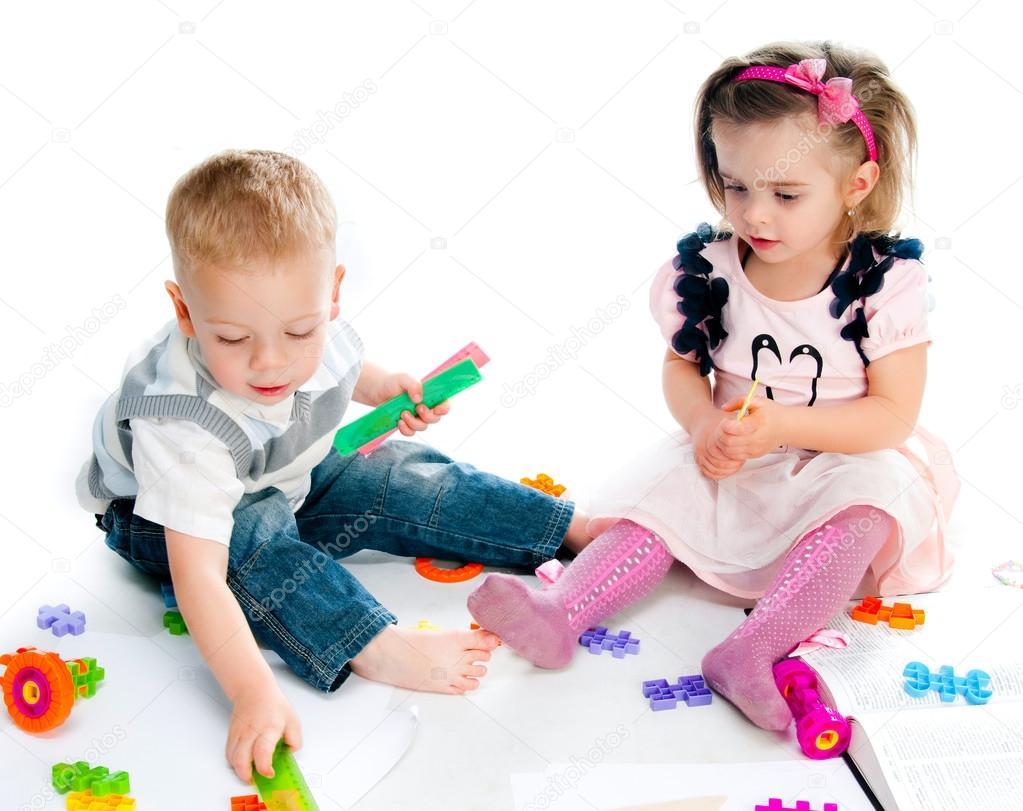 可爱的小孩子玩的玩具