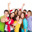 Happy young group of — Stock Photo #15876485