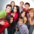 Happy young group of — Stock Photo #15876837