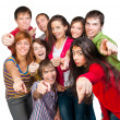 Happy young group of — Stock Photo #15876881