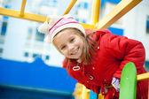 Little girl on the playground — Stock Photo