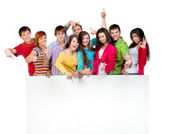 Happy young group of — Stock Photo