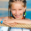 Little girl with a rope — Stock Photo