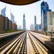 Dubai metro — Stock Photo