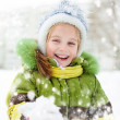 Girl winter vacation — Stock Photo #19257021