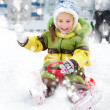 Girl sledding - Photo