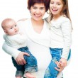 Stock Photo: Mother with babies
