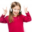 Portrait of girl in headset. — Stock Photo #19257725