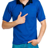 Man in blue uniforme — Stock Photo