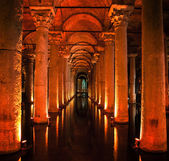 Turchia istanbul, cisterna basilica. — Foto Stock