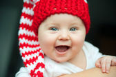 Baby in red hat — Stock Photo