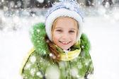 Girl winter vacation — Stock Photo