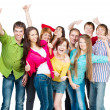 Stock Photo: Happy young group of
