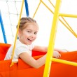 Little girl on a playground - Foto Stock