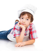Boy dressed as a cook — Stockfoto