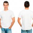 Teenager With Blank White Shirt — Stock Photo
