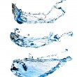 Set of water splashes — Stock Photo