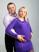 Pregnant couple — Stock Photo