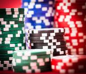 Poker chips — Stock Photo