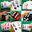 Set of different actions and scenes in casino — Stock Photo