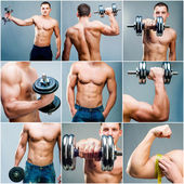 肌肉男子 — 图库照片