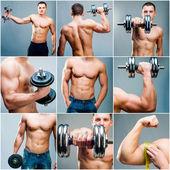 мускулистый человек — Стоковое фото