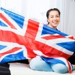 Stock Photo: Girl with british flag