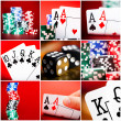 Set of  scenes in casino — Stock Photo