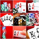 Conjunto de escenas en casino — Foto de Stock